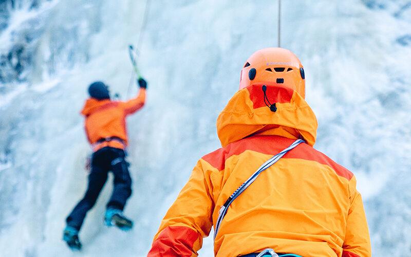 Image pour Cascade de glace au Val Montjoie avec Mathilde