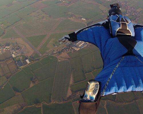 Base jump au départ de Magland avec Christophe