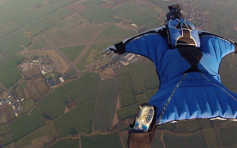 Image pour Base jump au départ de Magland avec Christophe