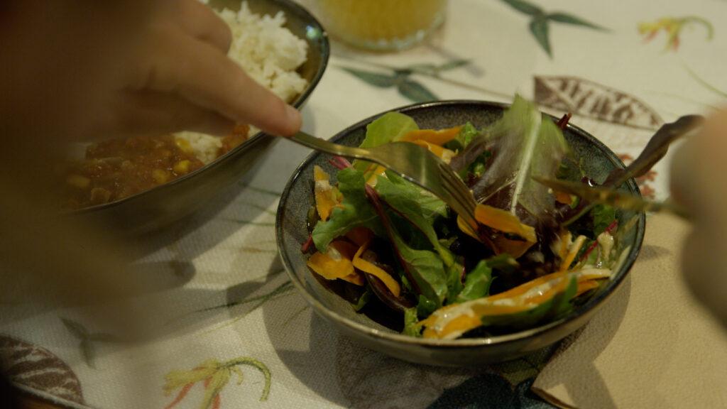Salade végan- Vivre en Haute-Savoie ATMB